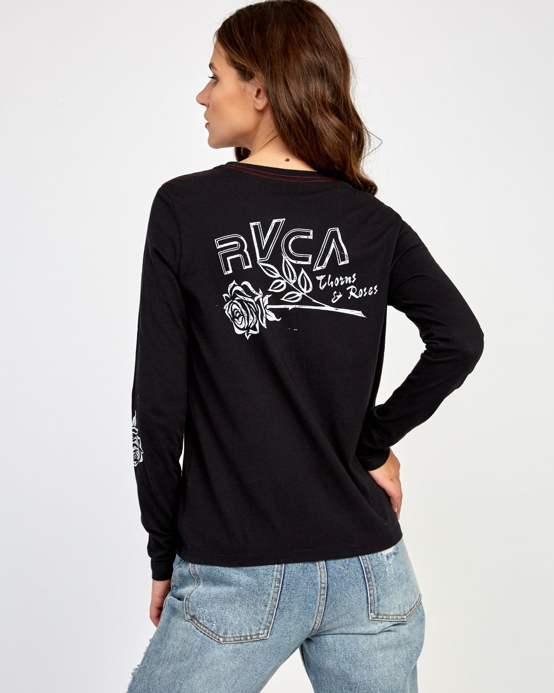 0 Thorns Long Sleeve T-Shirt Black W468VRTH RVCA