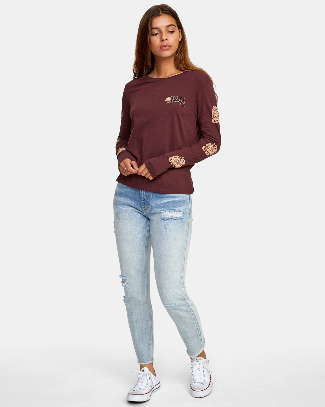 1 Bloom Long Sleeve T-Shirt  W468WRBL RVCA