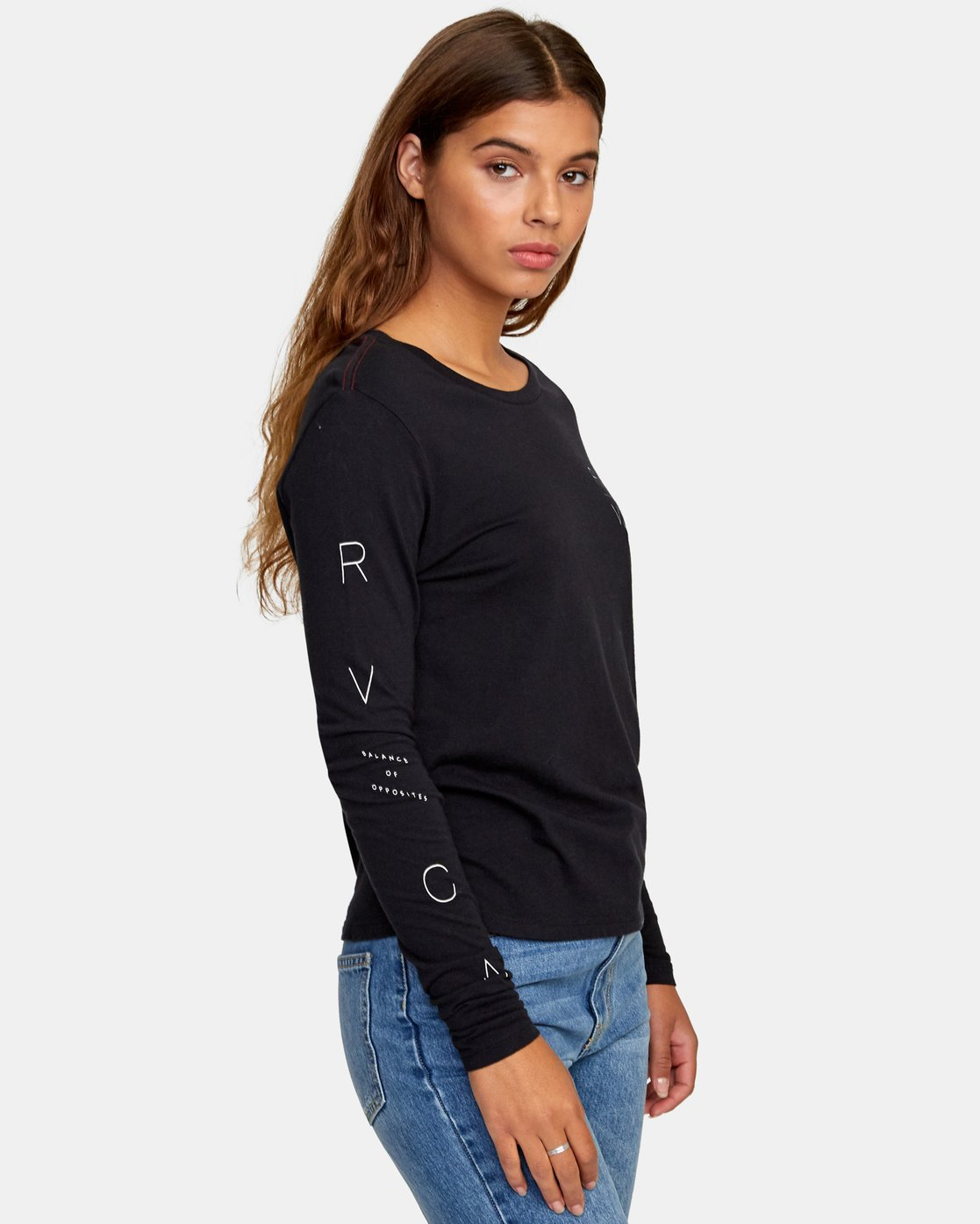 2 Century Long Sleeve T-Shirt Black W468WRCE RVCA