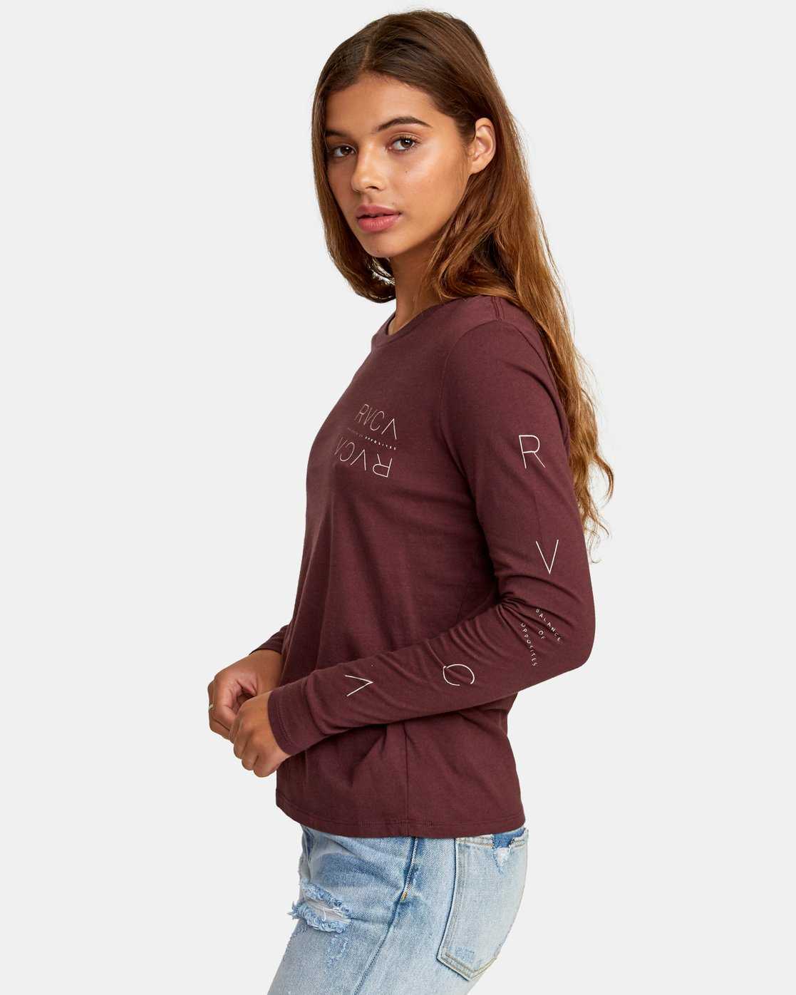 1 Century Long Sleeve T-Shirt Brown W468WRCE RVCA