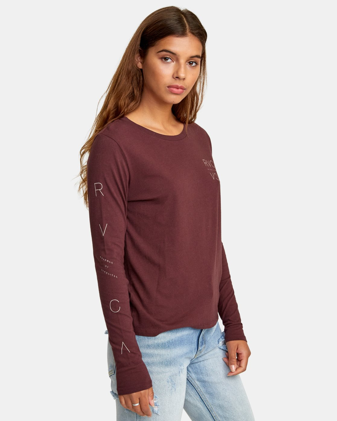 2 Century Long Sleeve T-Shirt Brown W468WRCE RVCA