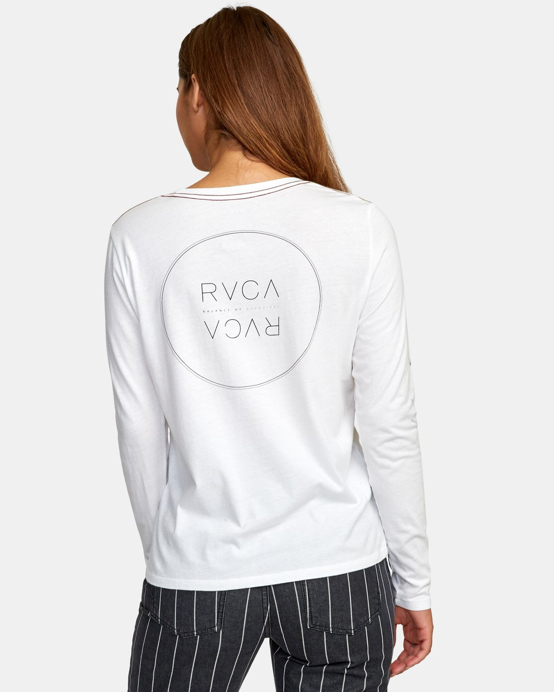 3 Century Long Sleeve T-Shirt White W468WRCE RVCA