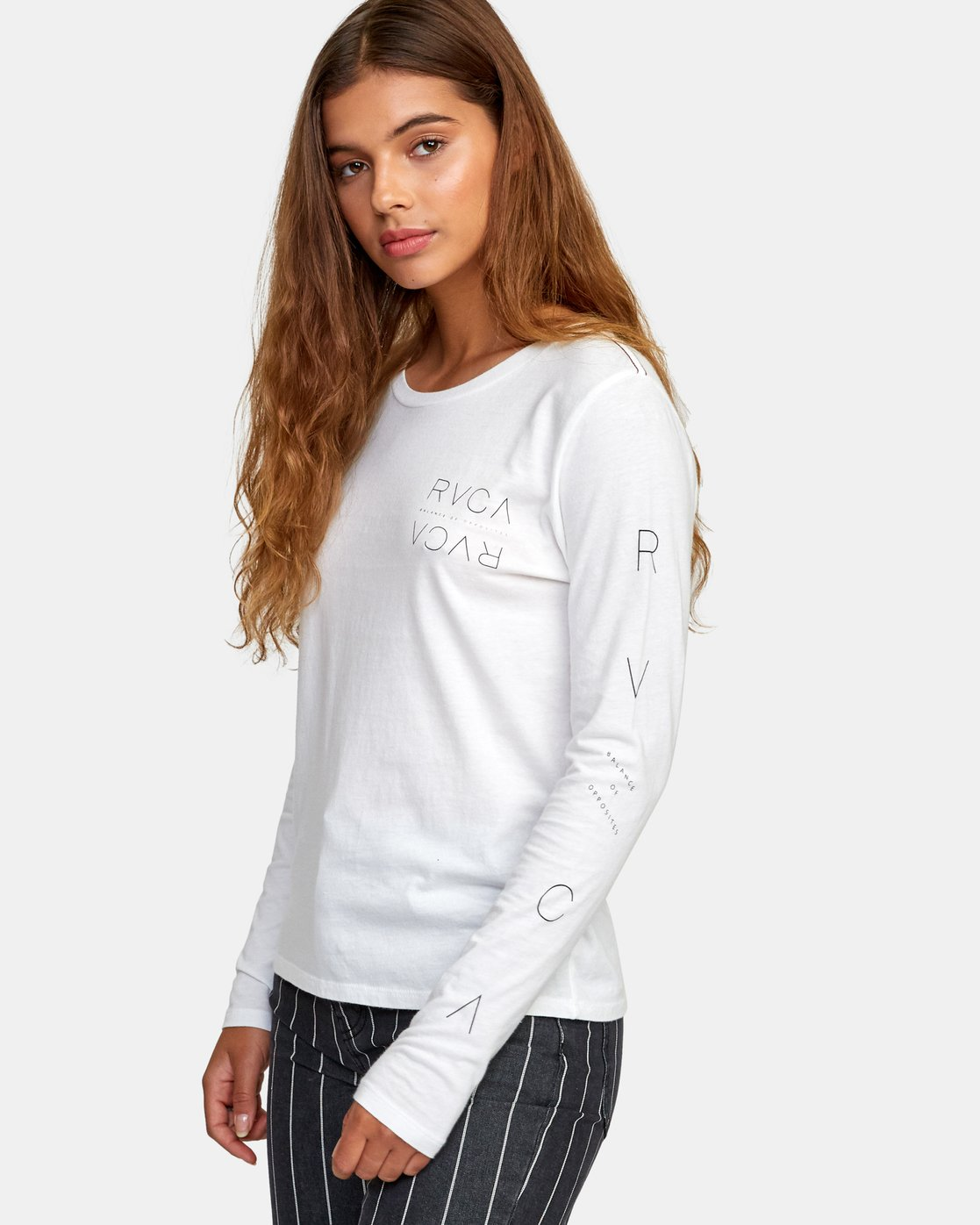 2 Century Long Sleeve T-Shirt White W468WRCE RVCA