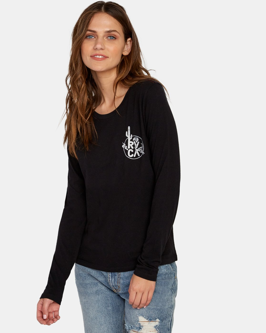 0 Death Valley Long Sleeve T-Shirt Black W468WRDE RVCA