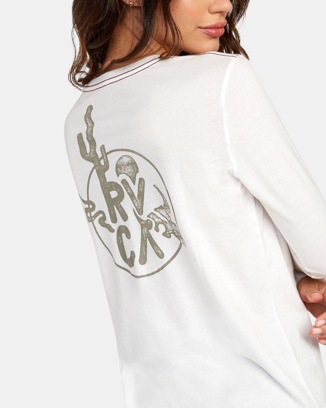 3 Death Valley Long Sleeve T-Shirt White W468WRDE RVCA
