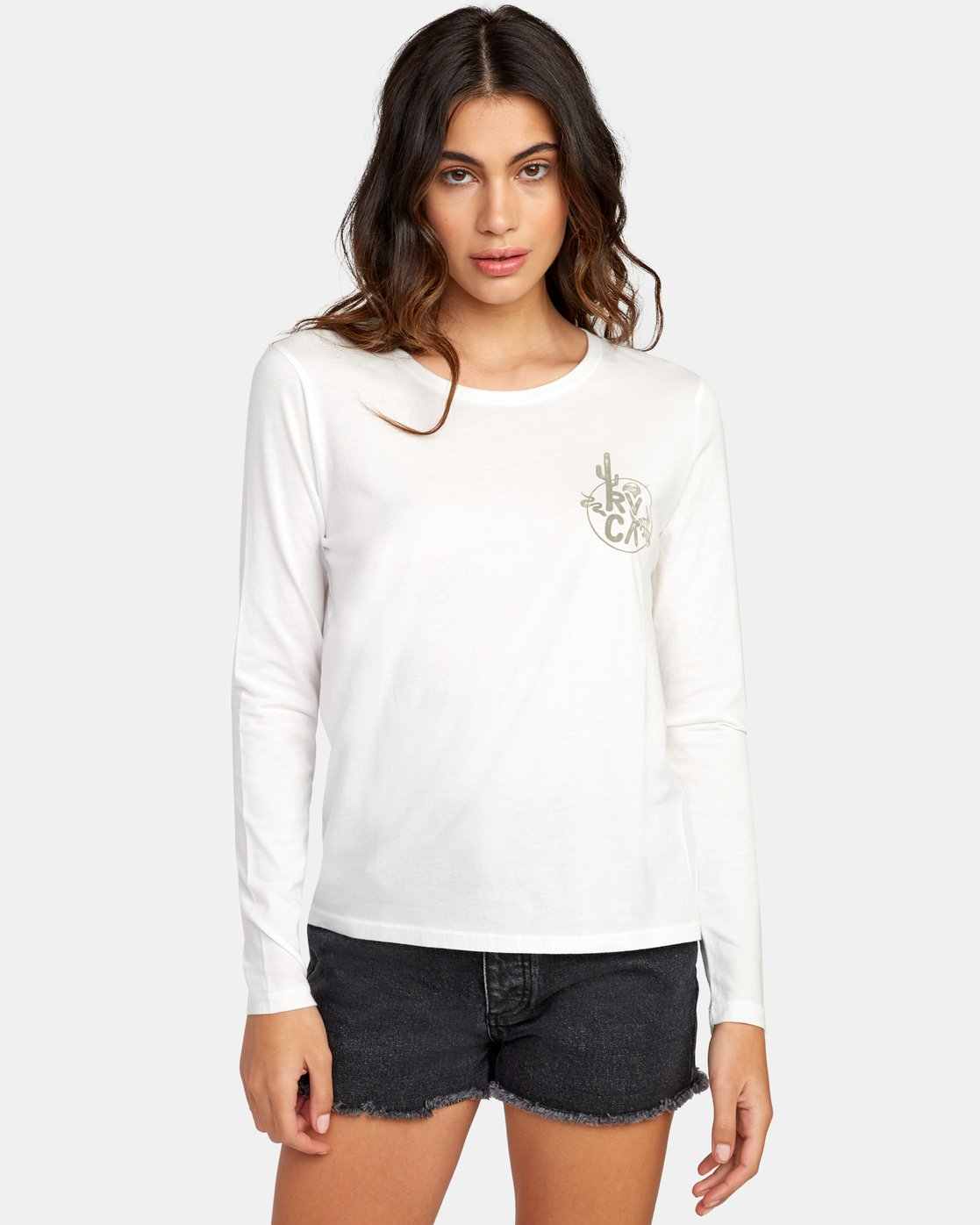0 Death Valley Long Sleeve T-Shirt White W468WRDE RVCA