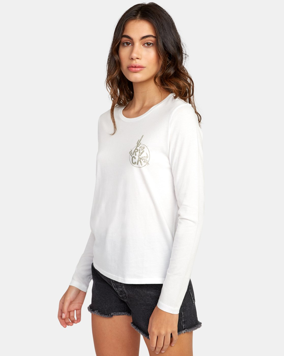 1 Death Valley Long Sleeve T-Shirt White W468WRDE RVCA