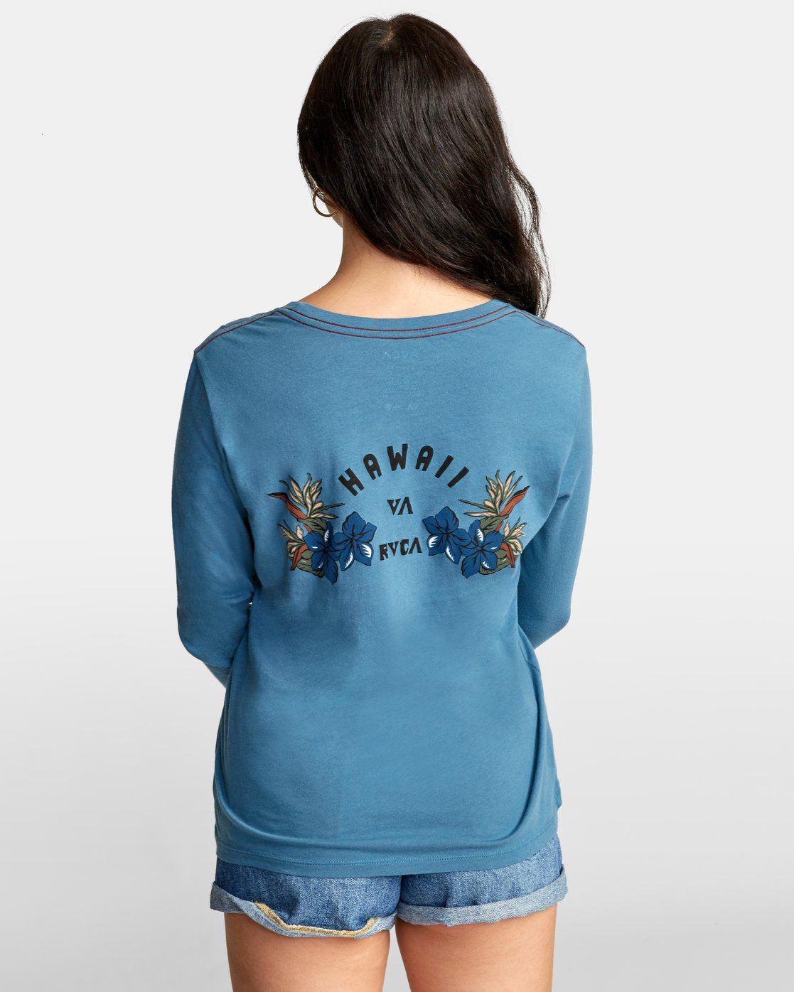 3 Paradise Long Sleeve T-Shirt Green W468WRPA RVCA