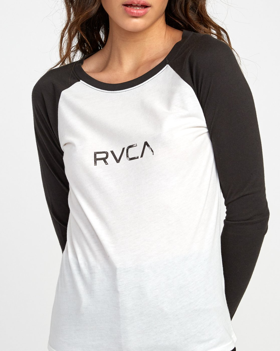 3 Sentry Baseball T-Shirt White W469VRSE RVCA