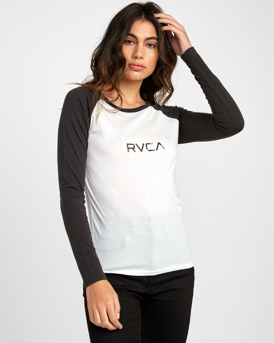 1 Sentry Baseball T-Shirt White W469VRSE RVCA