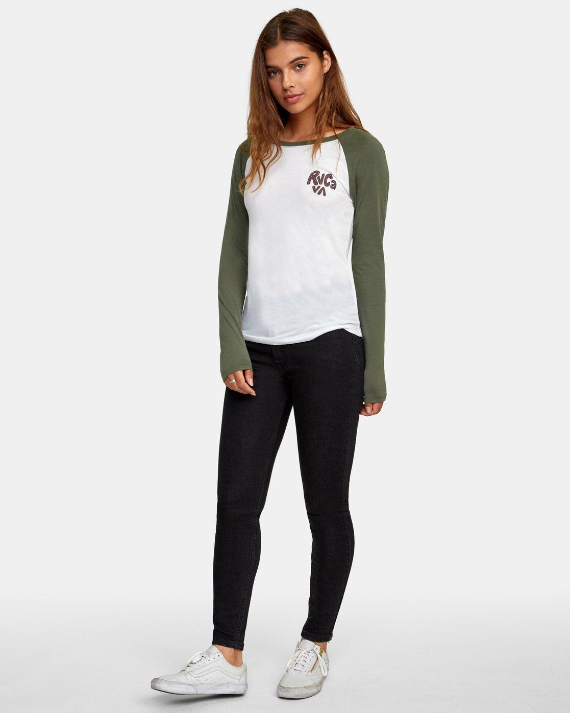 5 Getz Raglan Baseball T-Shirt  W469WRGE RVCA