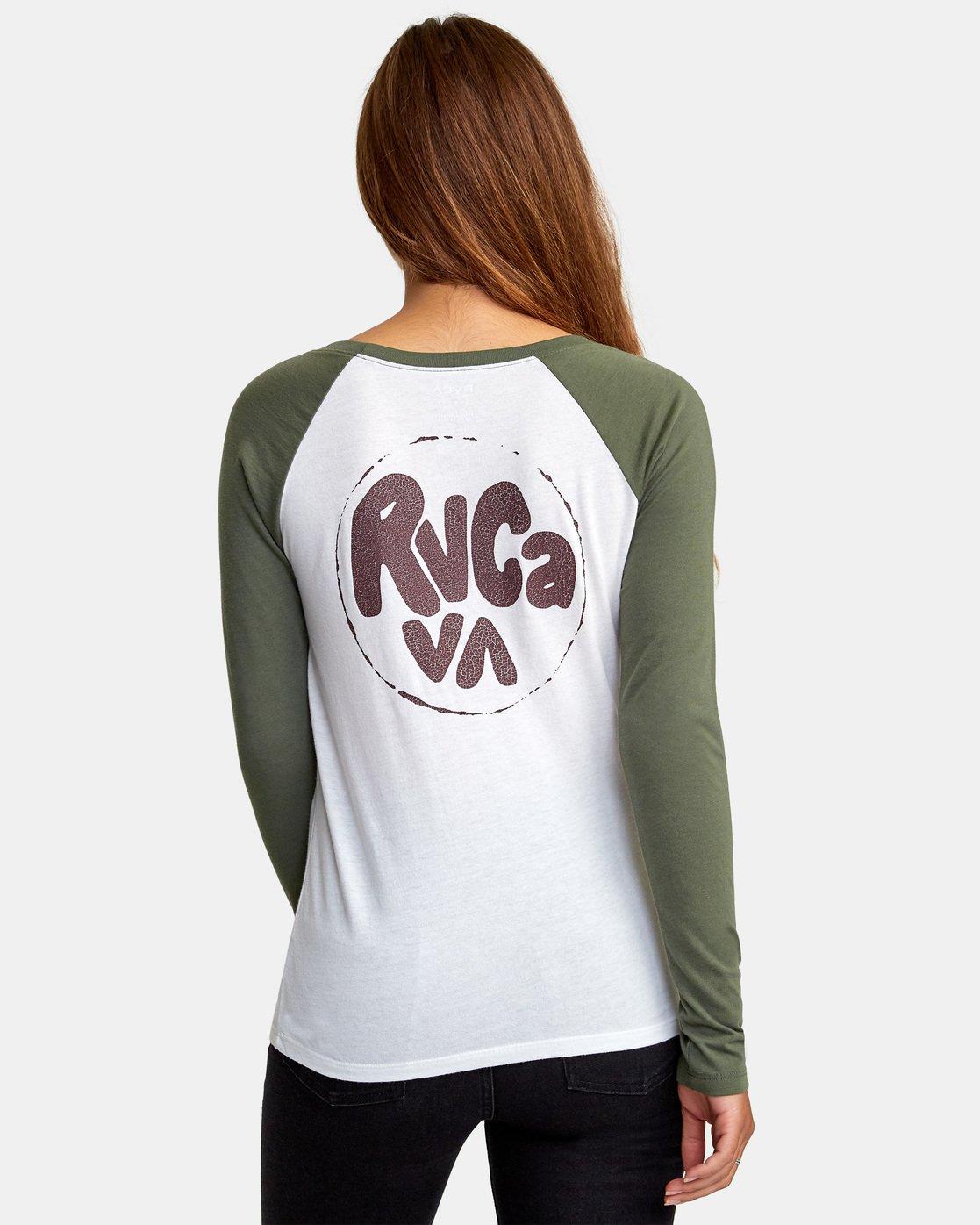 4 Getz Raglan Baseball T-Shirt Blue W469WRGE RVCA