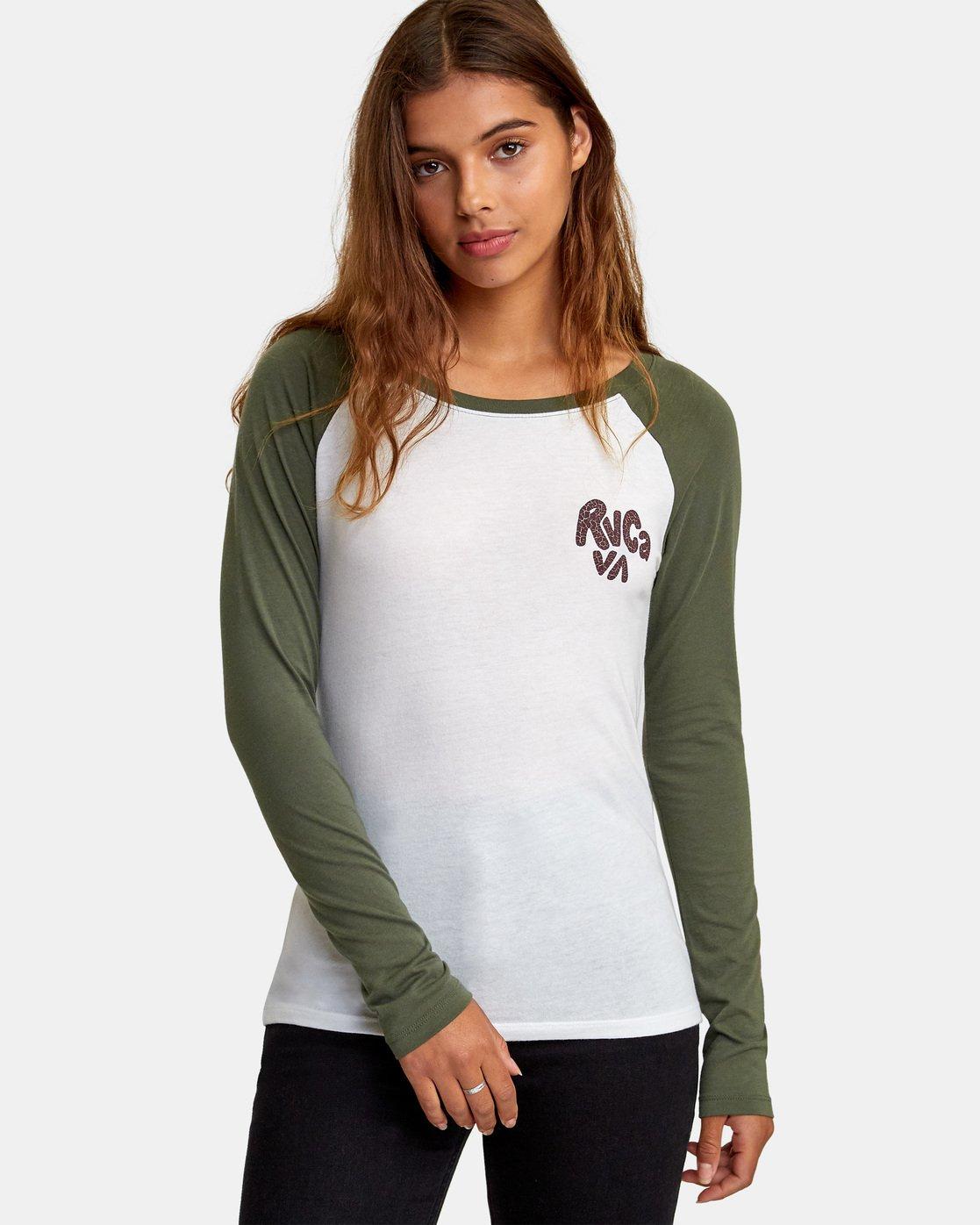 0 Getz Raglan Baseball T-Shirt  W469WRGE RVCA