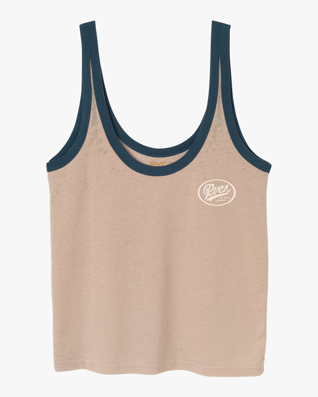 5 One Shott Ringer Tank Top Beige W471TRON RVCA