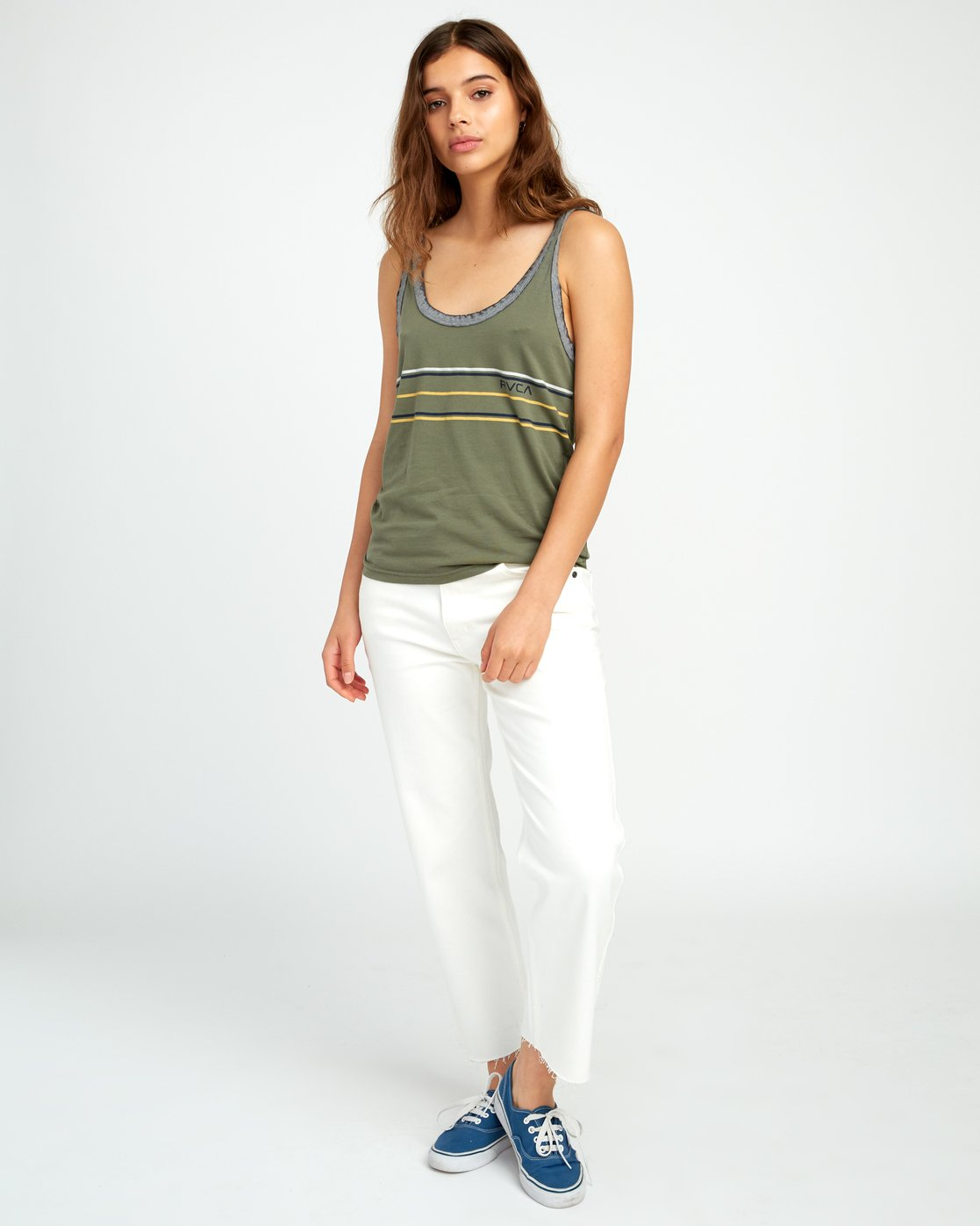 3 Another Stripe Ringer Tank Top  W471URAN RVCA