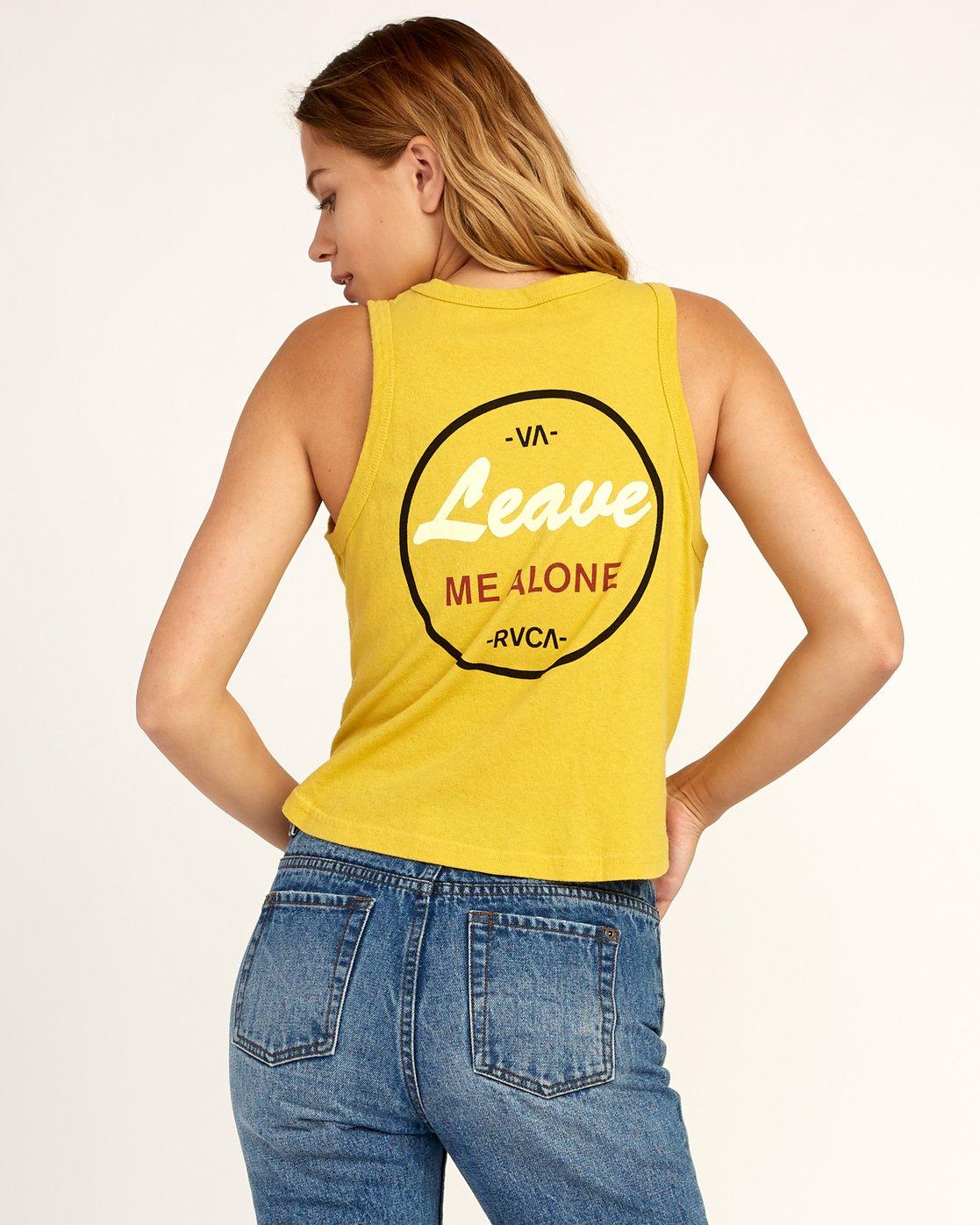2 Leave Me Alone Tank Top Yellow W472TRLE RVCA