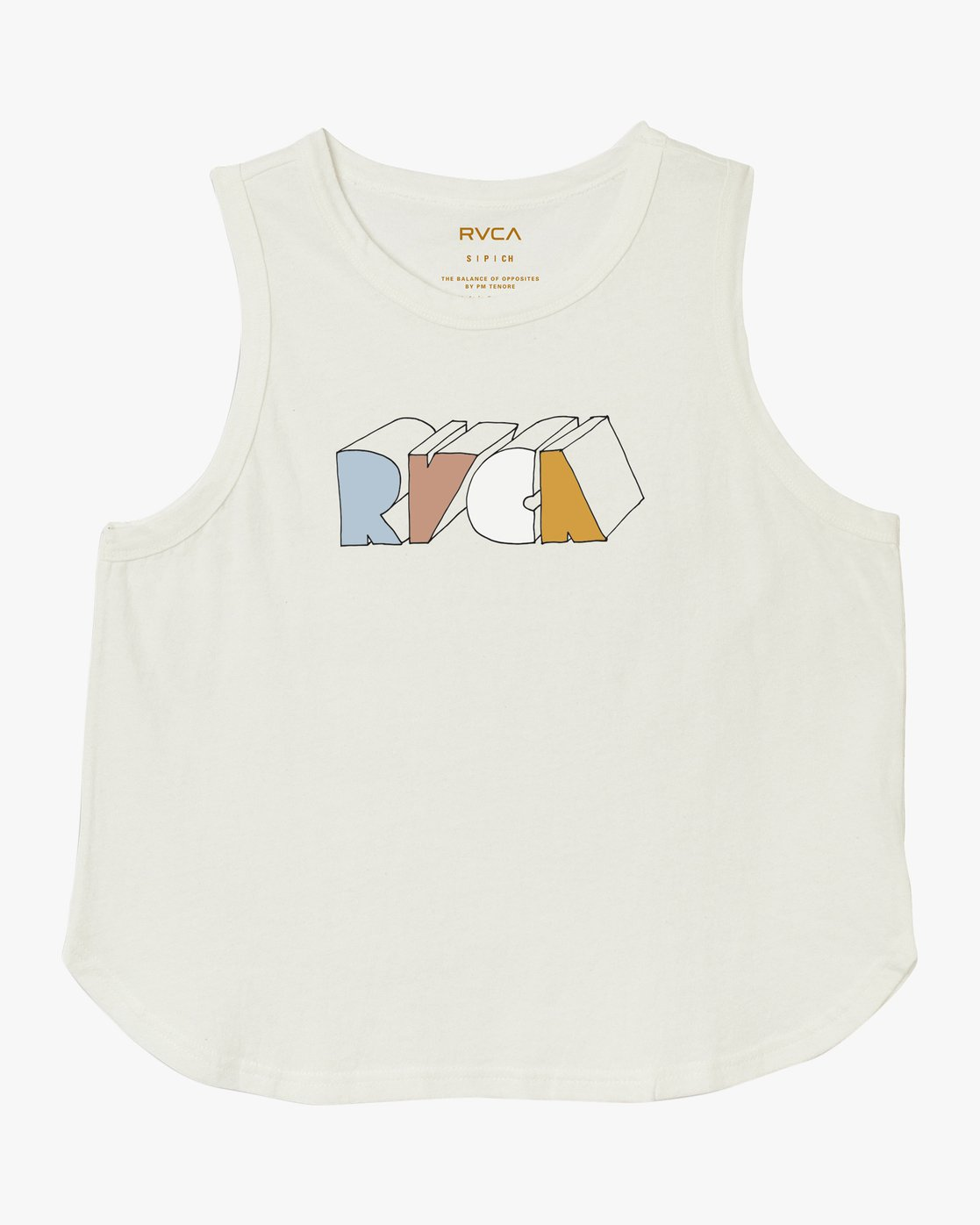 5 Perspect Tank Top White W472TRPE RVCA
