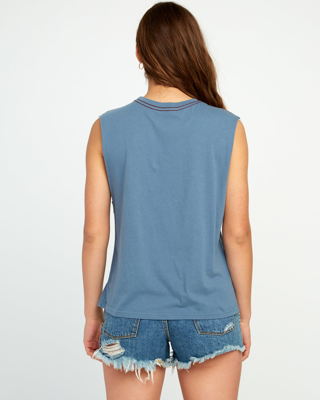 1 Stretcher Relaxed Muscle Tank Top Blue W473URST RVCA