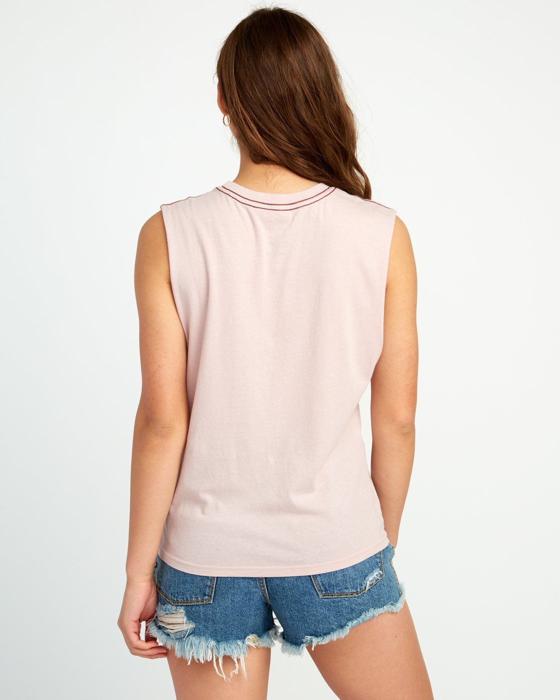 2 Stretcher Relaxed Muscle Tank Top Pink W473URST RVCA