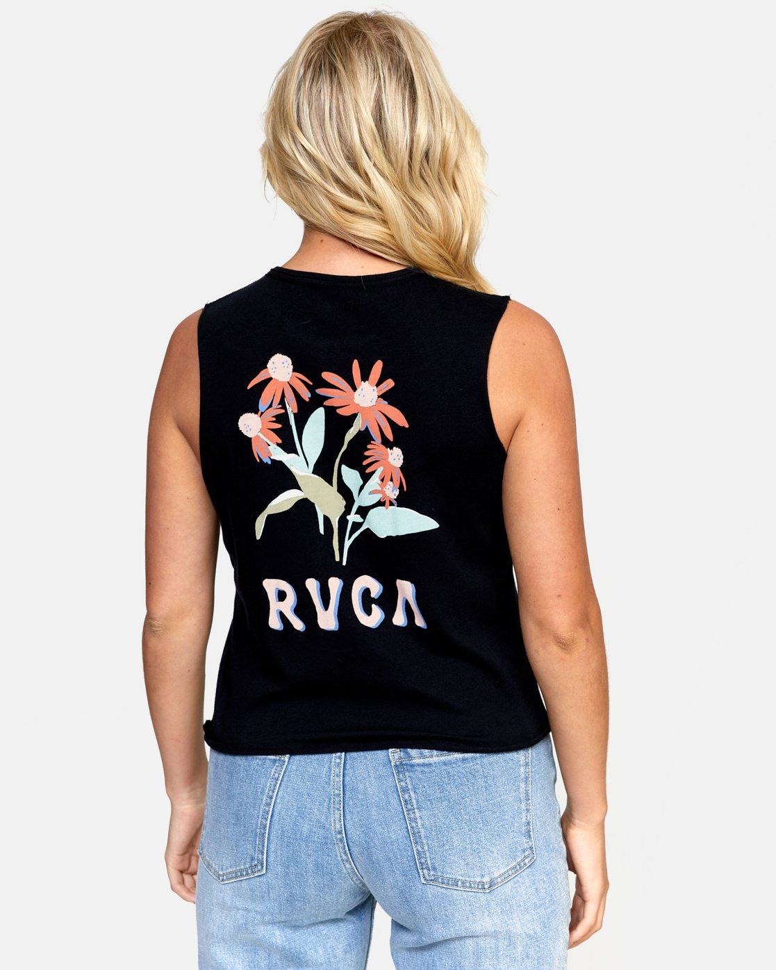 3 EN BLOOM TANK Black W4742REB RVCA