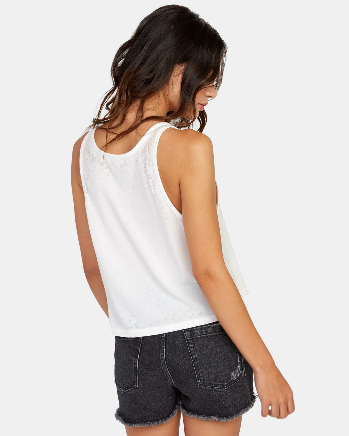 2 Clipping Tank Top White W477WRCL RVCA