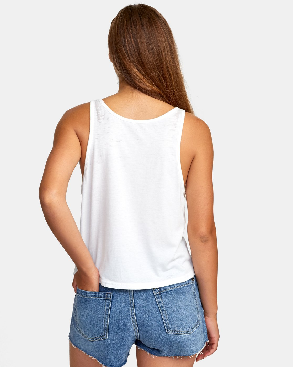 2 Stretched Tank Top White W477WRST RVCA
