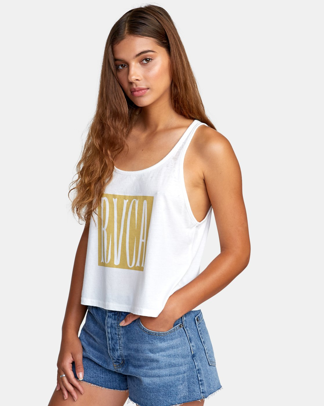 1 Stretched Tank Top White W477WRST RVCA