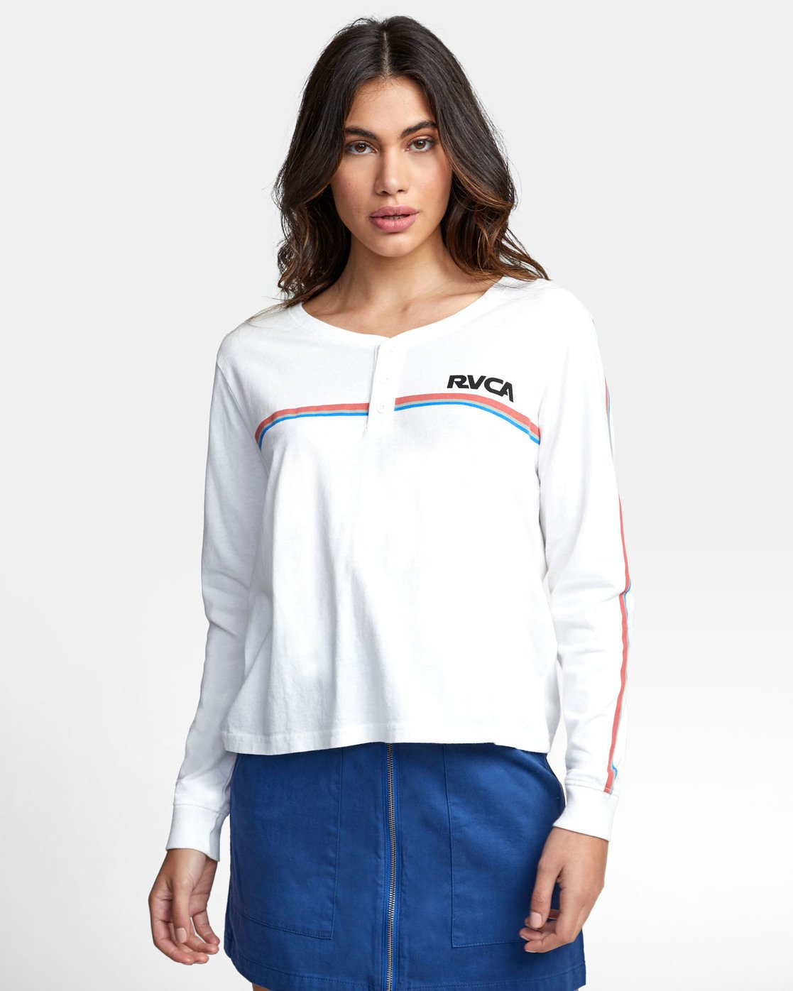 2 CANNONBALL LONG SLEEVE T-SHIRT White W4791RCA RVCA