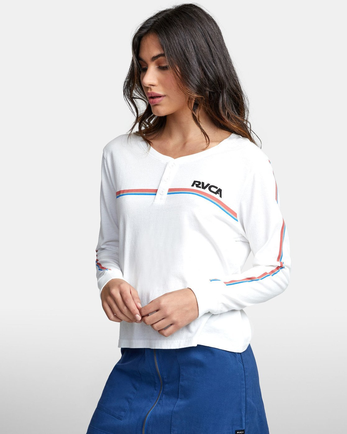 5 CANNONBALL LONG SLEEVE T-SHIRT White W4791RCA RVCA
