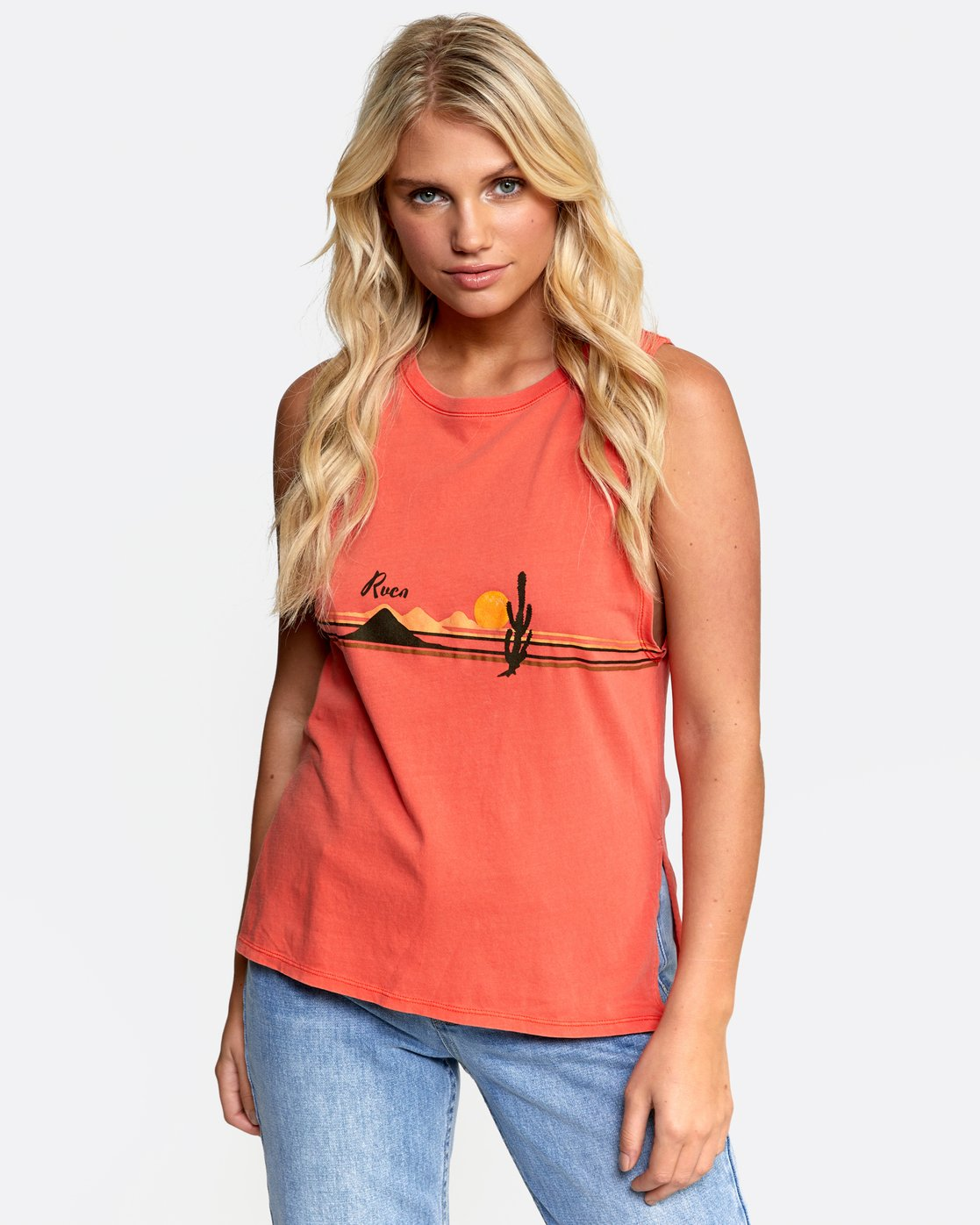 0 OPEN PLAINS TANK Orange W4822ROP RVCA
