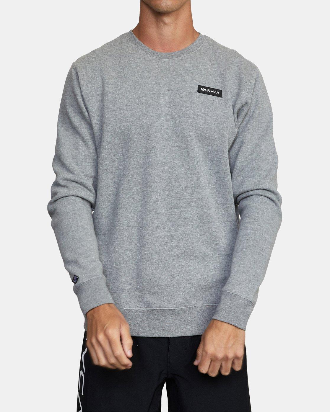 0 VA Sport - Sweatshirt for Men Grey W4CRMARVP1 RVCA