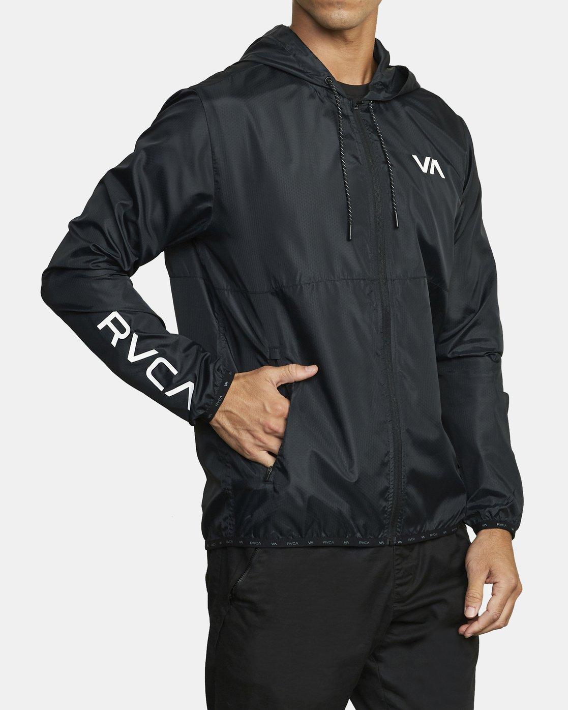 RVCA mens Hexstop V Jacket Windbreaker