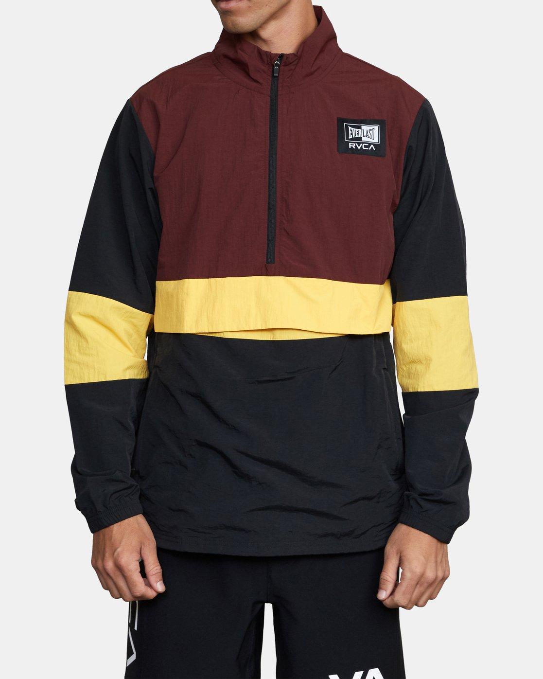 1 RVCA x Everlast - Anorak for Men Brown W4JKMIRVP1 RVCA