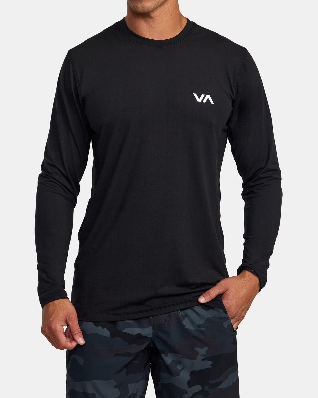 6 Sport Vent - Haut de sport manches longues pour Homme Noir W4KTMARVP1 RVCA