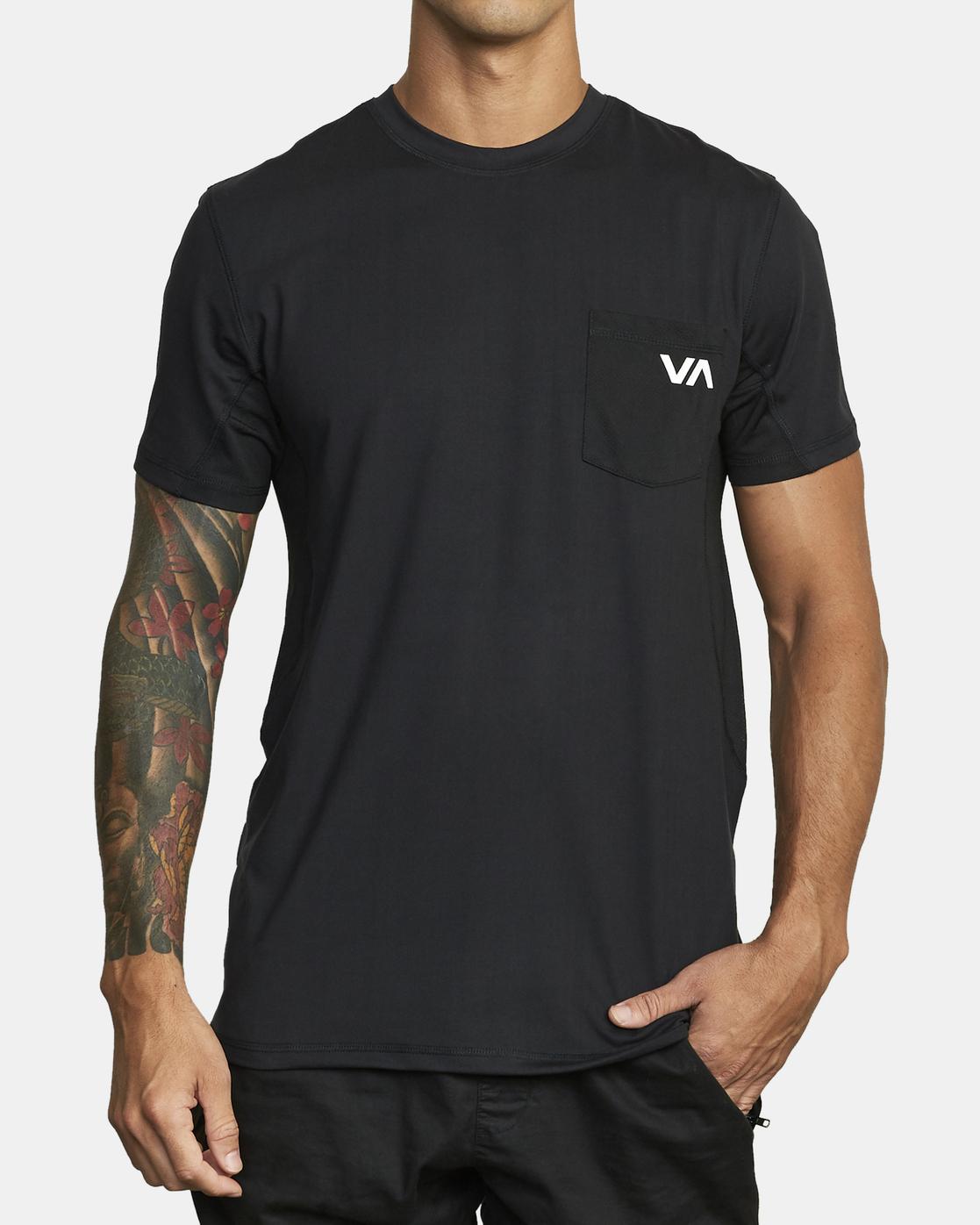 1 Sport Vent - T-shirt pour Homme Noir W4KTMBRVP1 RVCA