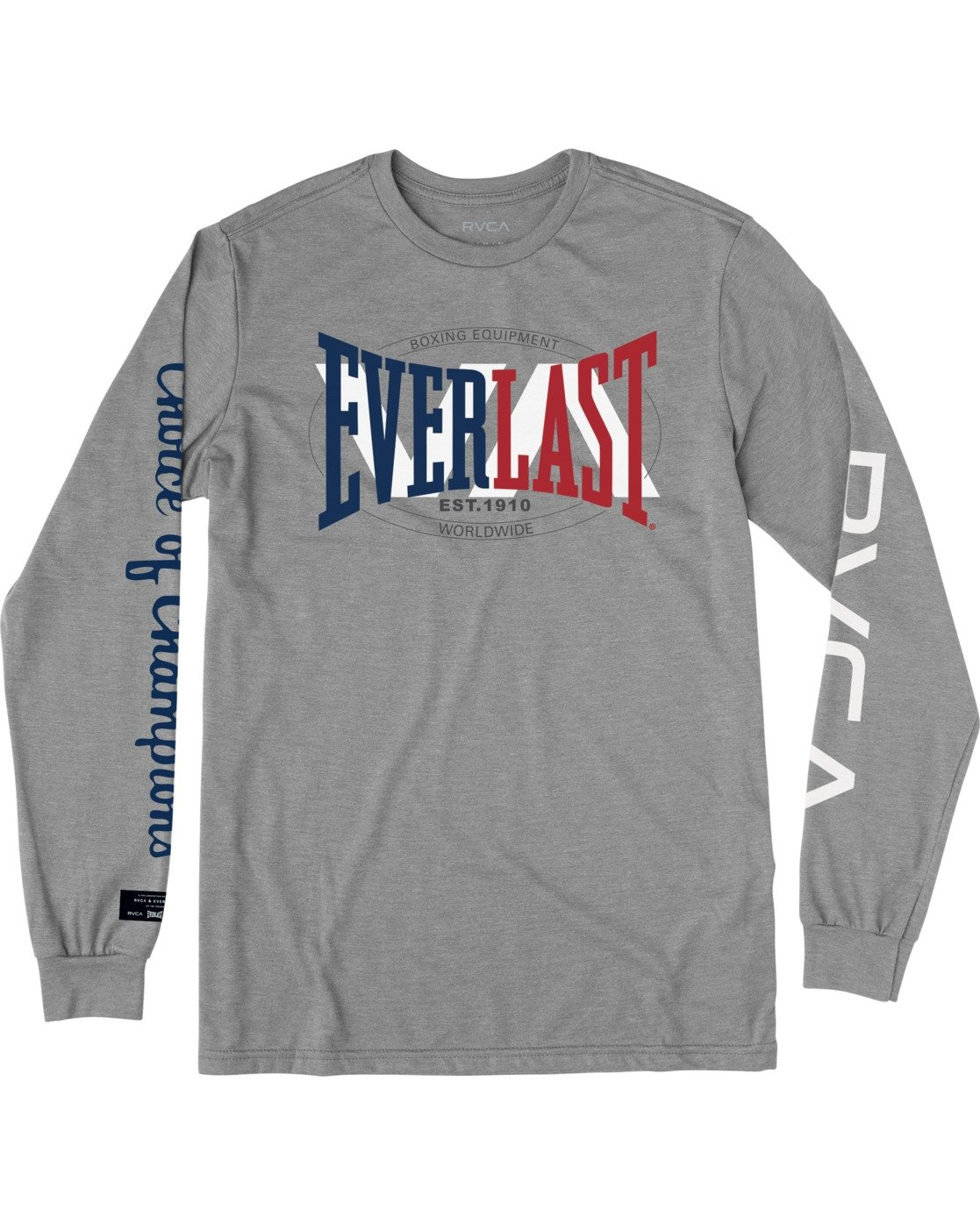 0 Everlast x Everlast Stack Patch - Long Sleeve T-Shirt for Men Grey W4LSMBRVP1 RVCA