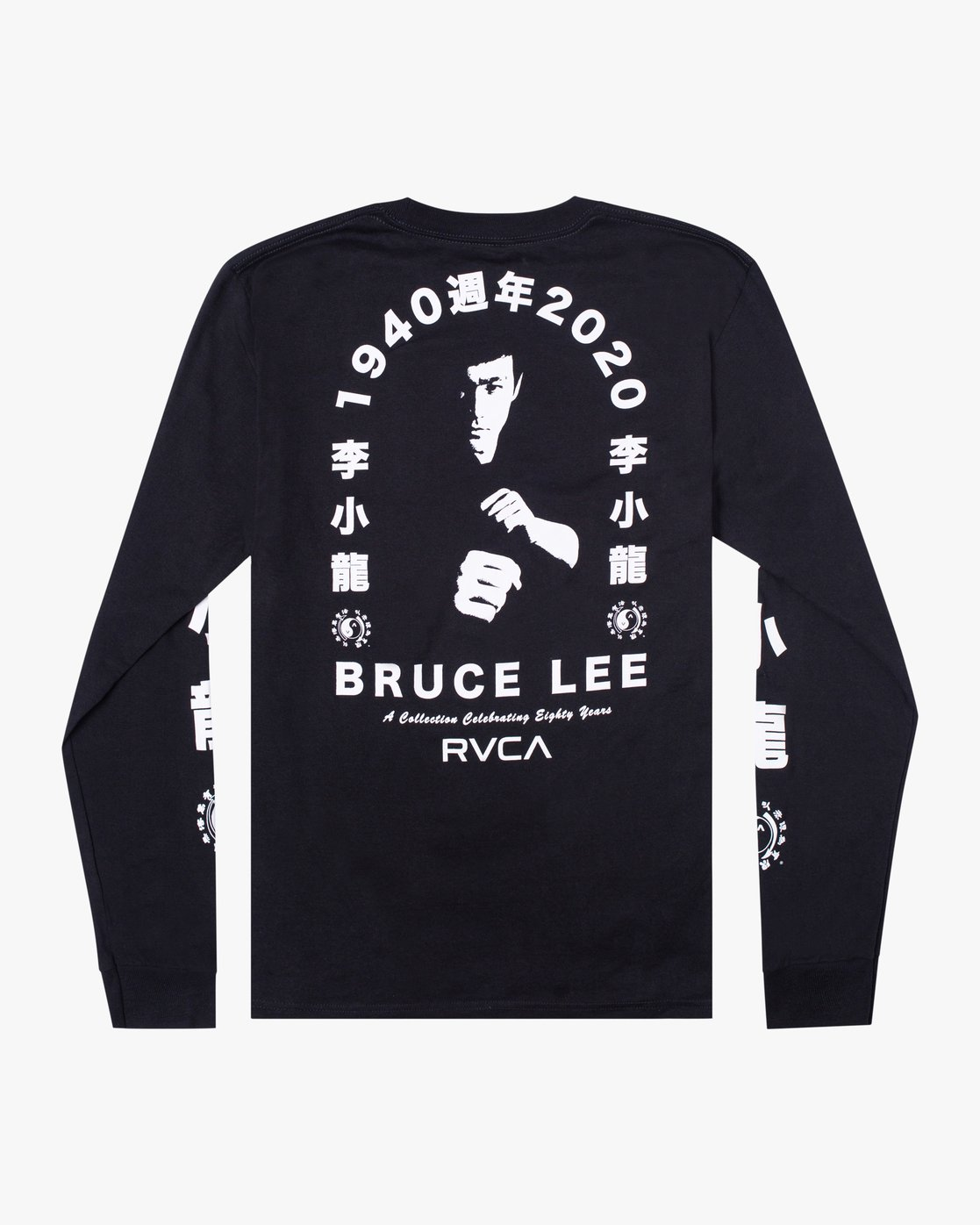1 Bruce Lee Eighty Years - Long Sleeve T-Shirt for Men Black W4LSMFRVP1A RVCA