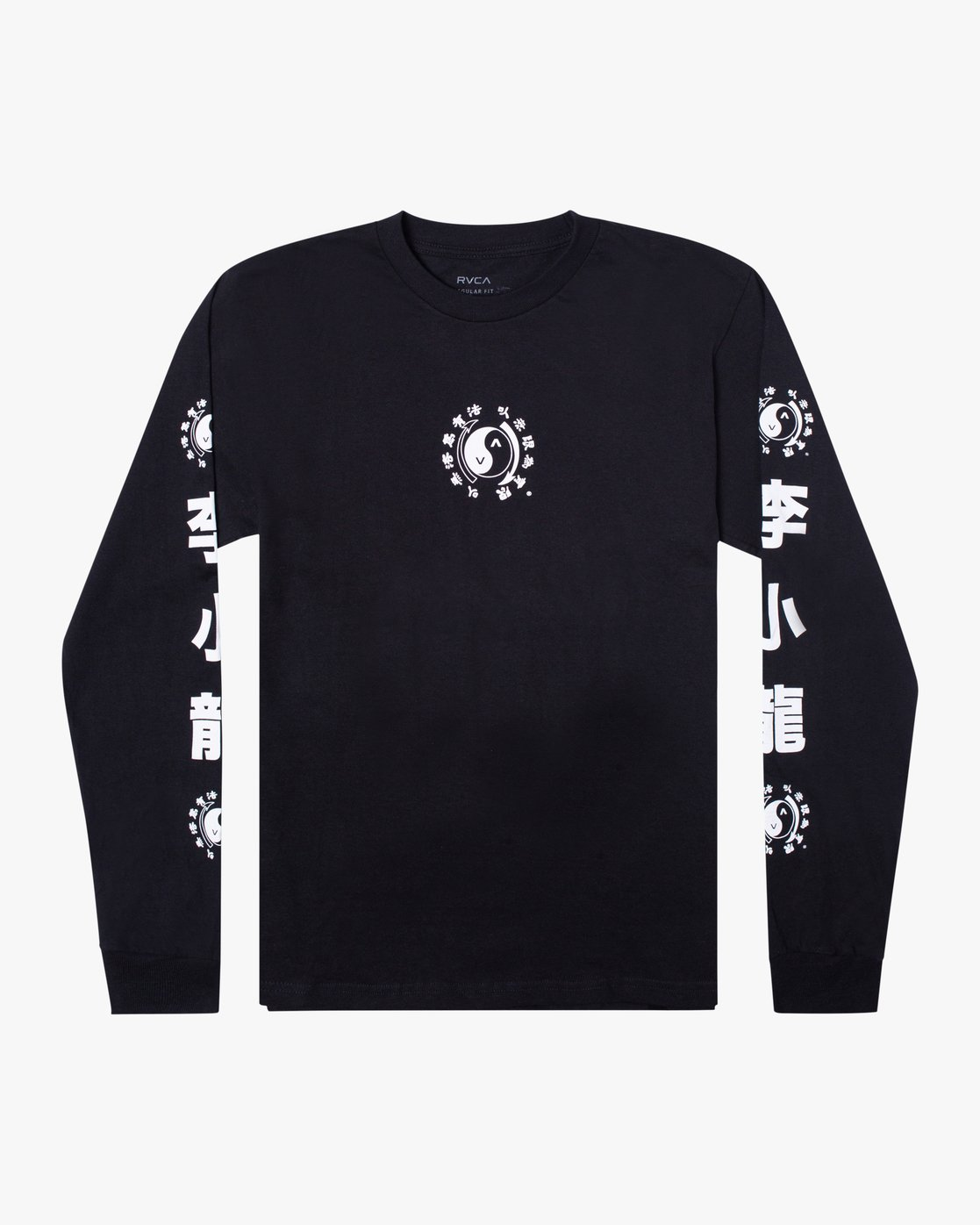 0 Bruce Lee Eighty Years - Long Sleeve T-Shirt for Men Black W4LSMFRVP1A RVCA