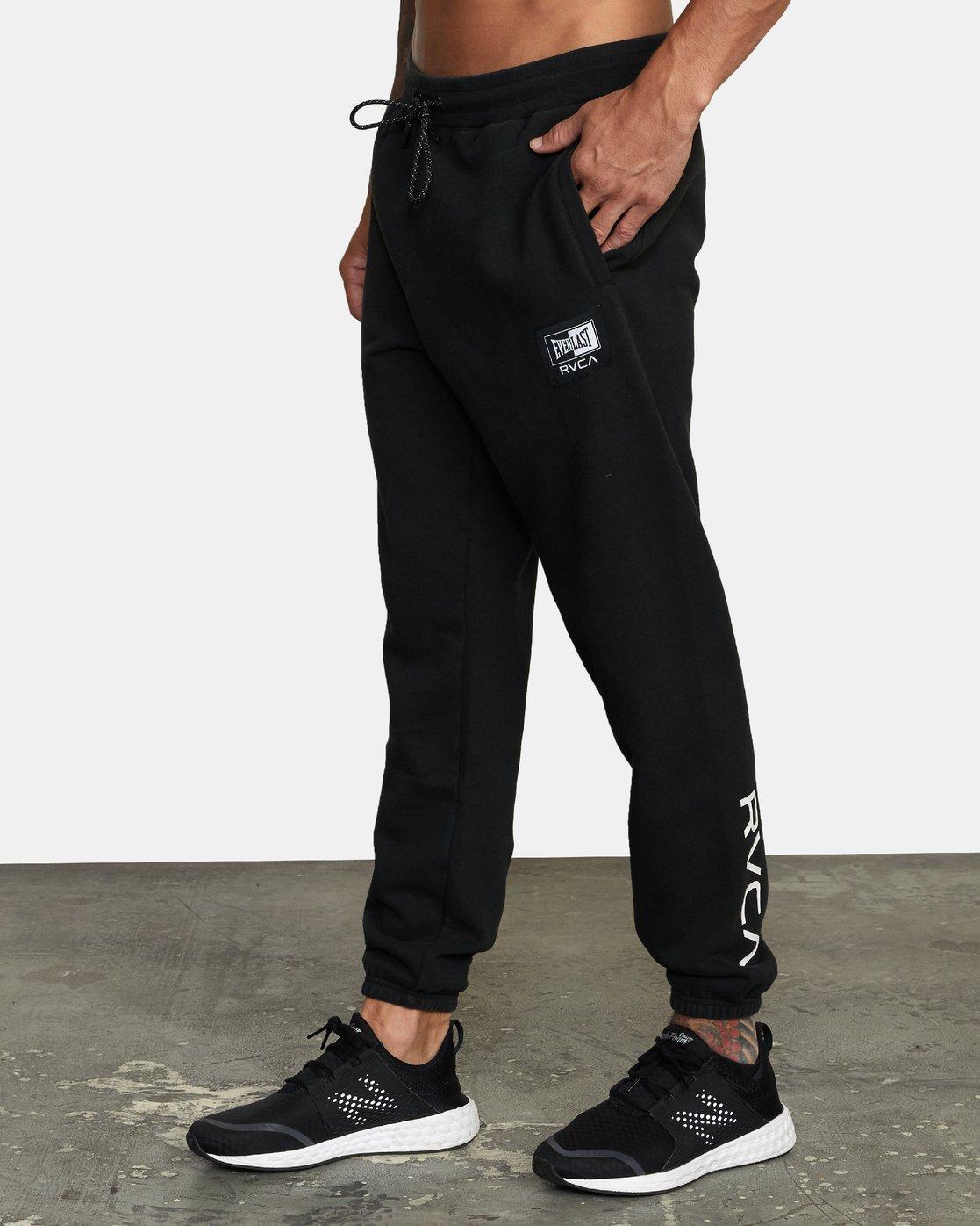 3 Everlast x RVCA - Joggers for Men Black W4PTMDRVP1 RVCA
