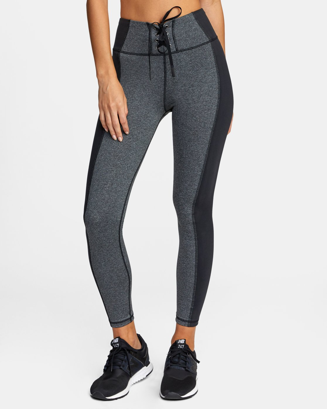 0 Everlast x RVCA Lace Up - High Waist Sports Leggings for Women Grey W4PTWDRVP1 RVCA