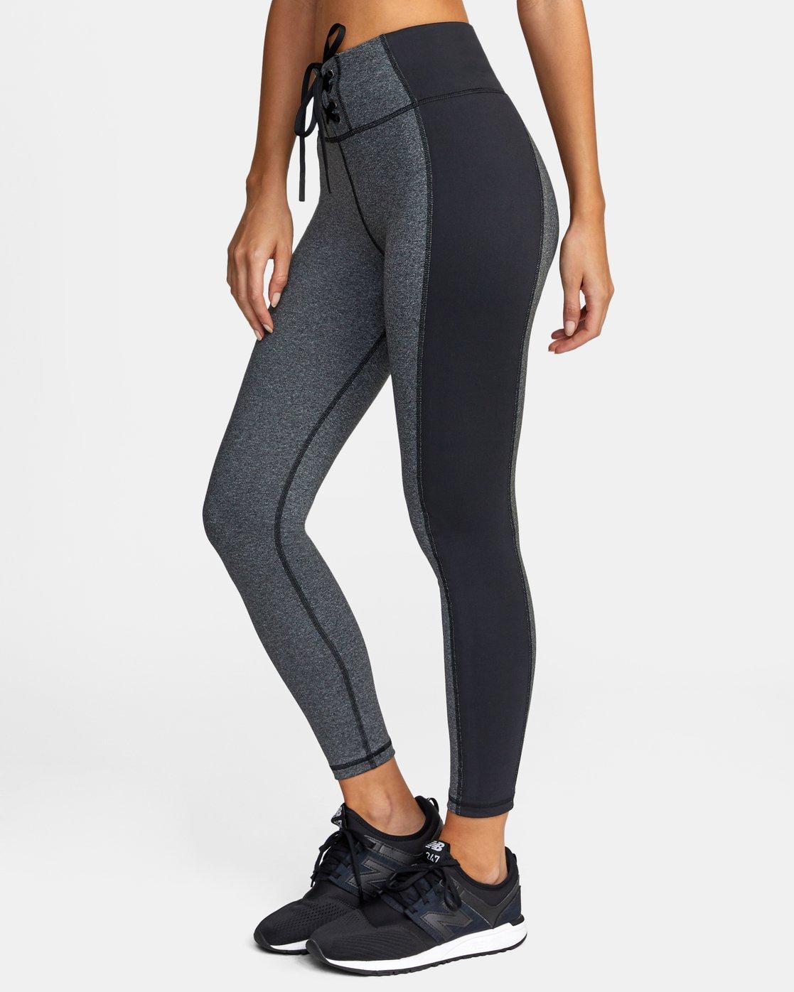 3 Everlast x RVCA Lace Up - High Waist Sports Leggings for Women Grey W4PTWDRVP1 RVCA