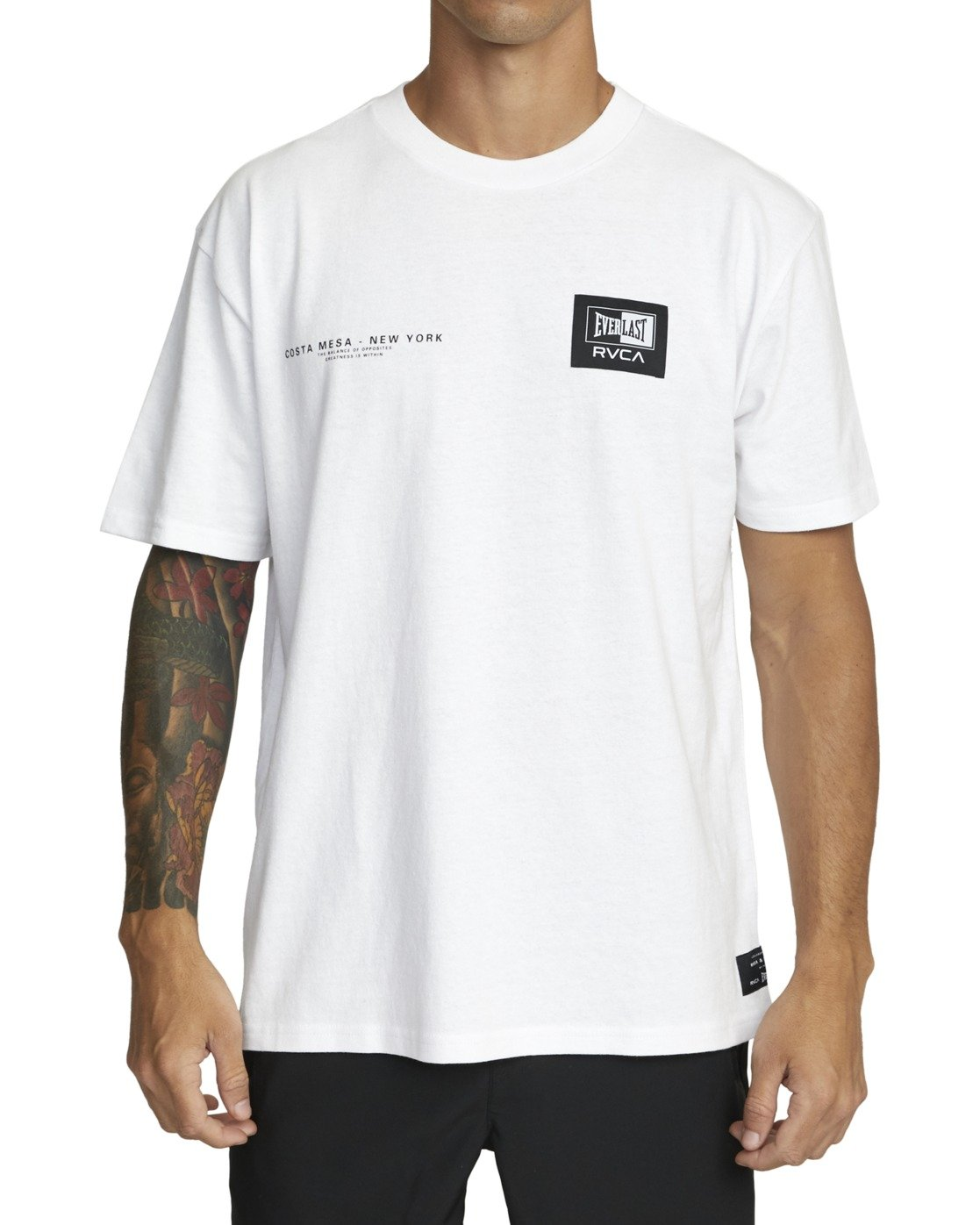 2 Everlast x RVCA - T-Shirt for Men White W4SSMJRVP1 RVCA