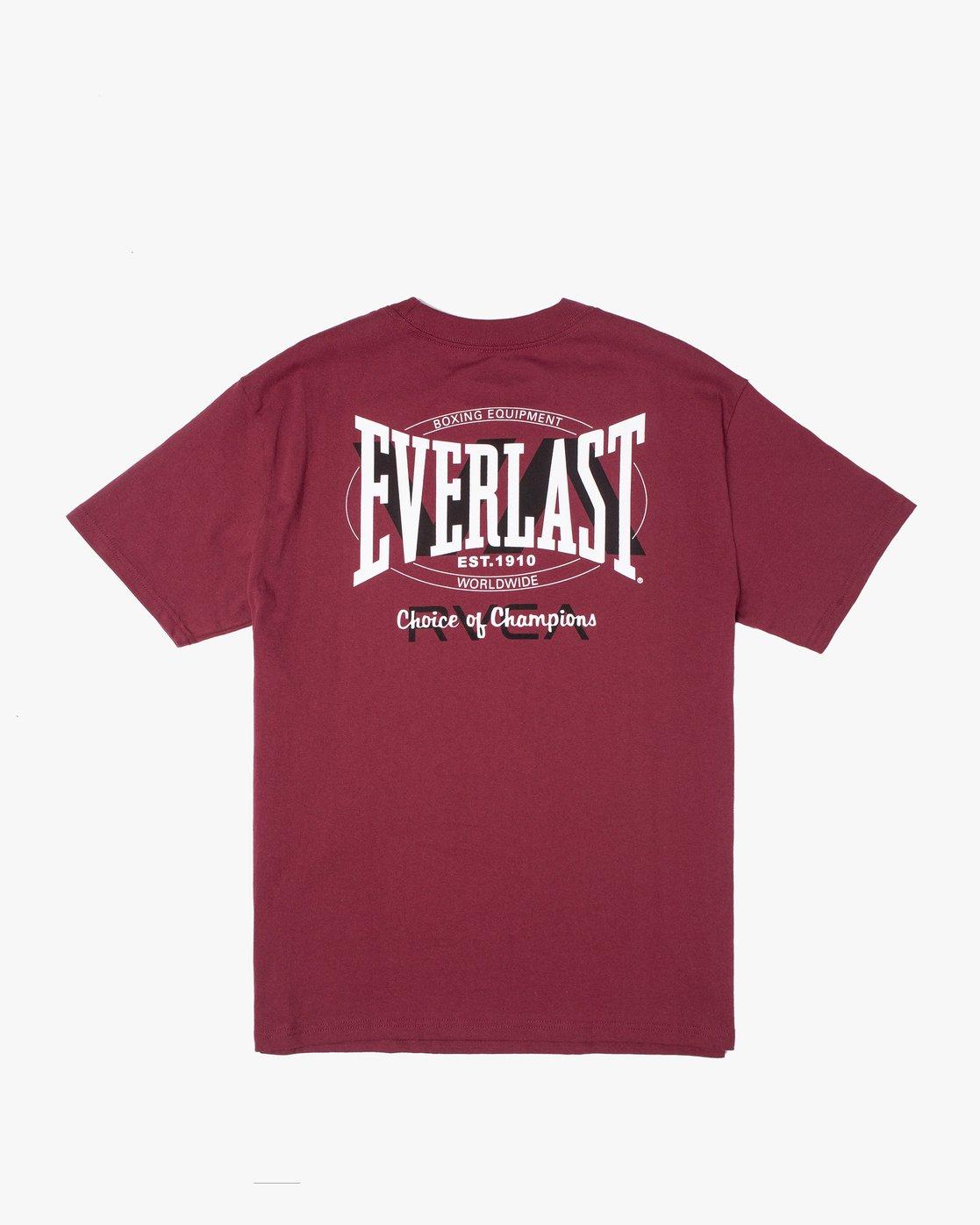 1 Everlast x RVCA Stack Patch - T-Shirt for Men Brown W4SSMLRVP1 RVCA