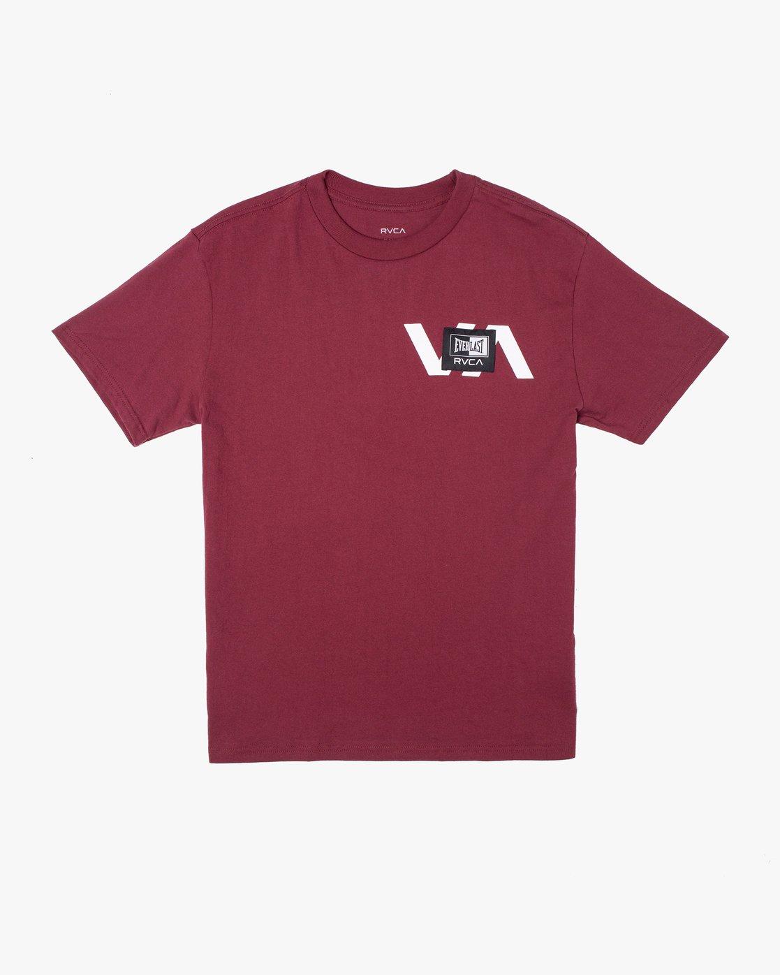 0 Everlast x RVCA Stack Patch - T-Shirt for Men Brown W4SSMLRVP1 RVCA