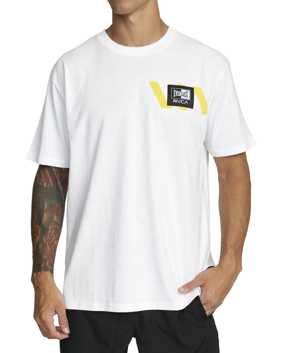 2 Everlast x RVCA Stack Patch - T-Shirt for Men White W4SSMLRVP1 RVCA