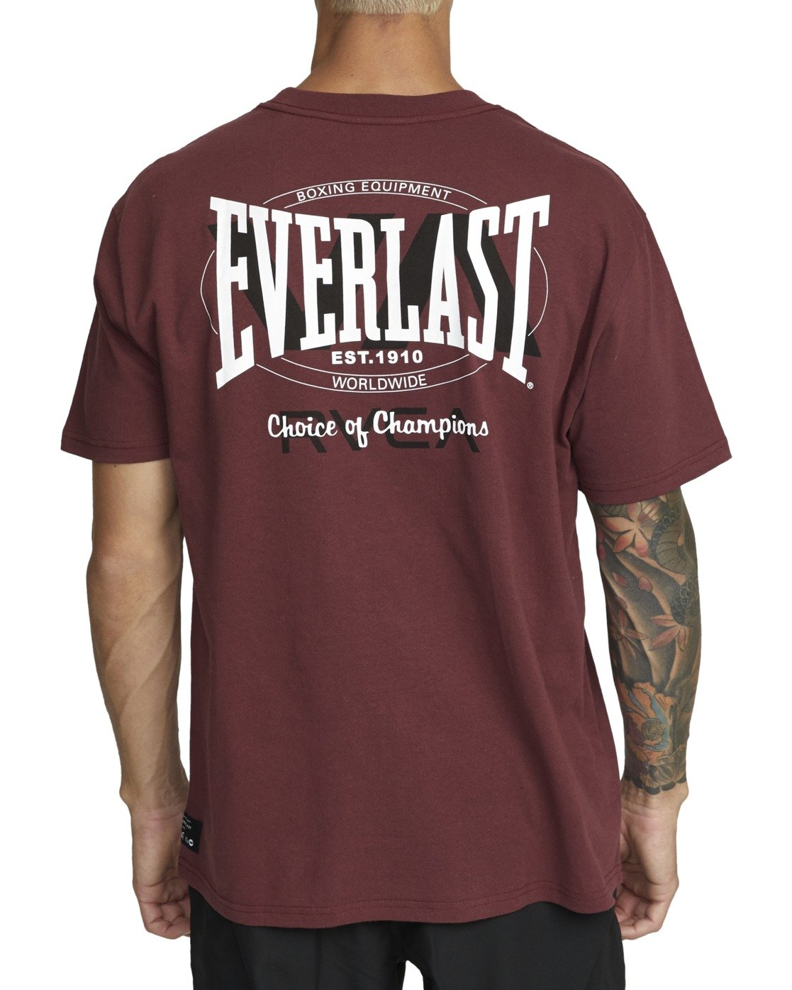 3 Everlast x RVCA Stack Patch - T-Shirt for Men Brown W4SSMLRVP1 RVCA