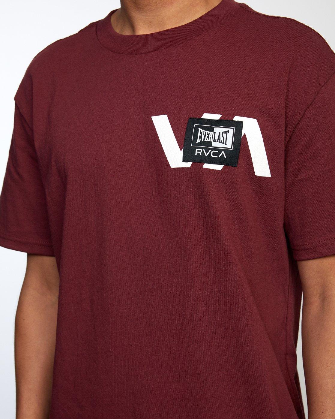 4 Everlast x RVCA Stack Patch - T-Shirt for Men Brown W4SSMLRVP1 RVCA