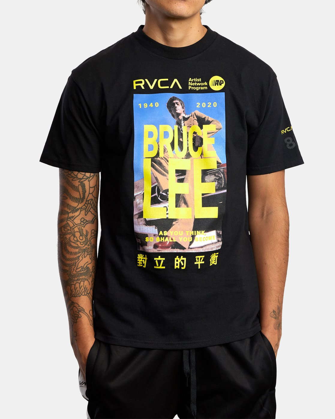 1 Bruce Lee As You Think - T-Shirt for Men Black W4SSMORVP1 RVCA