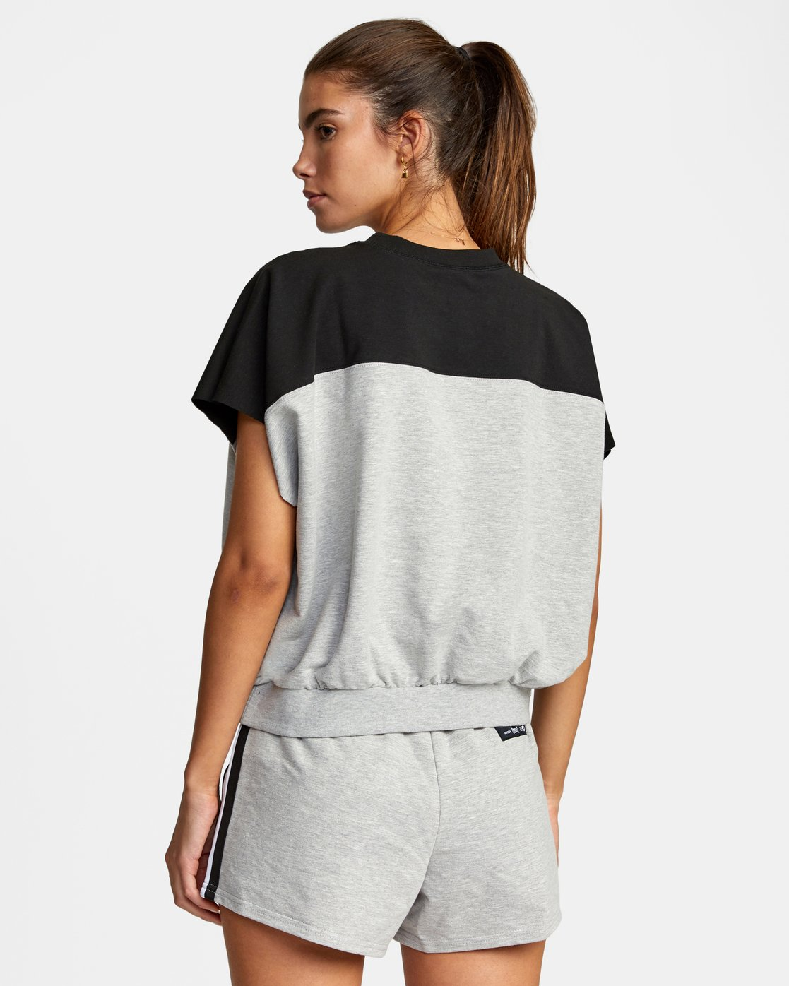 1 Everlast x RVCA - Cropped Sweatshirt for Women Grey W4TPWBRVP1 RVCA