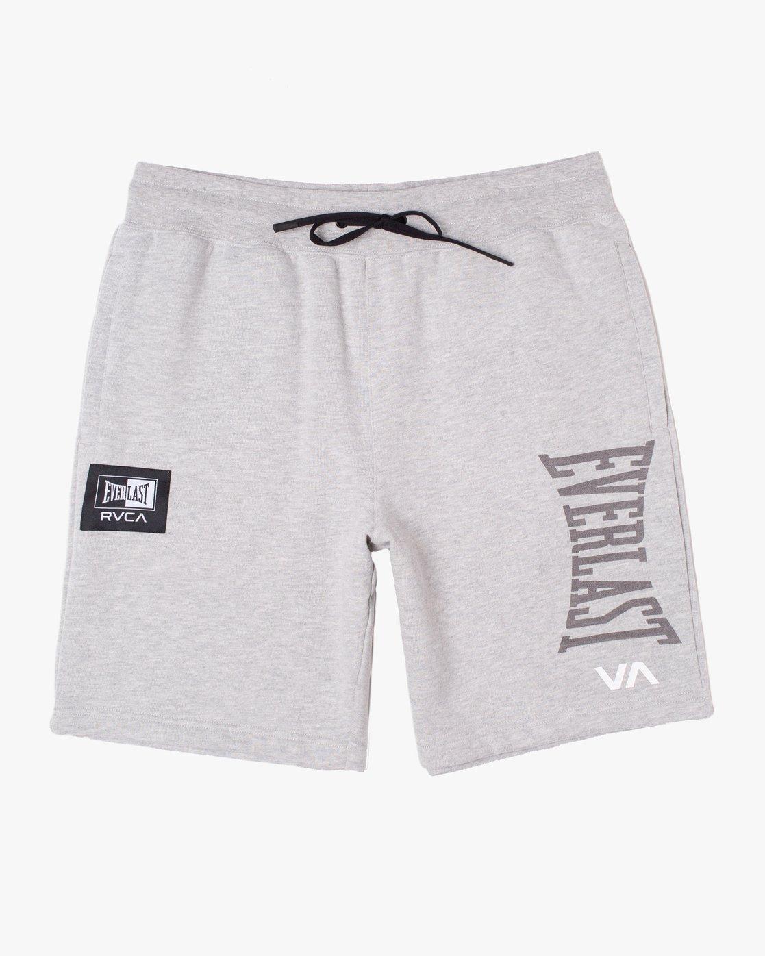 0 Everlast x RVCA - Sweat Shorts for Men Grey W4WKMGRVP1 RVCA